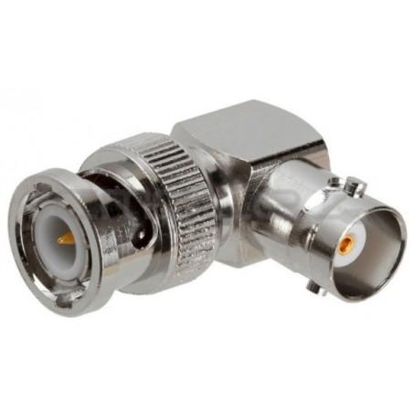 Vinklet BNC kontakt 90°. Coaxial adapter, BNC han- TNC hun, højrevinklet