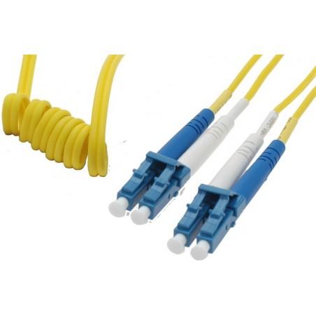Single LC Lätilltill Bend fiberkabel . Easy Bend , 9 pm, duplex , OS1 , LSZH , LC , 30 meter