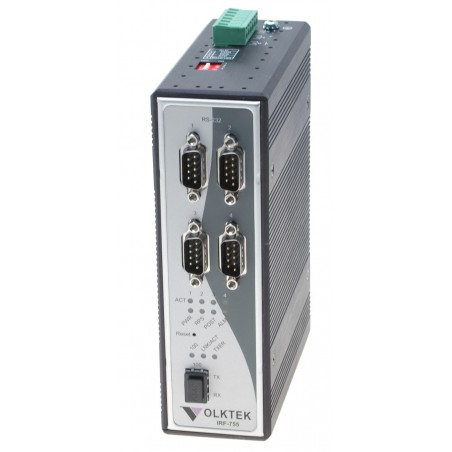 Serielportserver 4 x RS232 single port 10/100 Mbit, SFP multi og singlemode