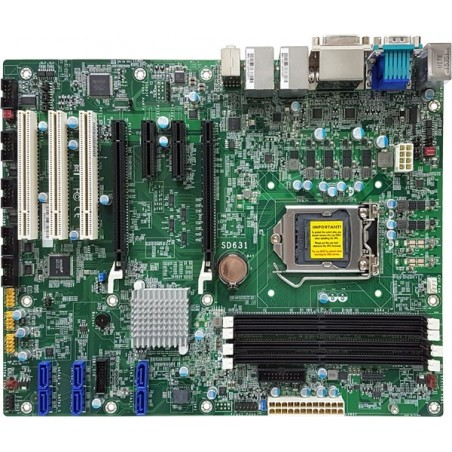 Industriel ATX motherboard baseret på 6th Gen Intel® Core™ processor, 3 x PCI