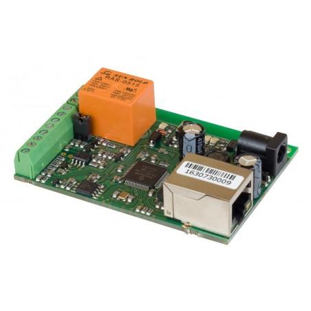 Board till fjärkontroll och mätning via Internet/LAN, 1 x DI, 1 x AI, 1 x Relä, 1-Wire temperaturmätarer