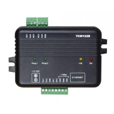 Modul til fjernkontrol og måling, IP watchdog til genstart, 2 x DI, 2 x AI, 2 x relæ udgang, 1-wire føler indgang