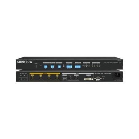 4K Video Wall controller 4 x HDMI udgange, HDMI, DP, DVI-I indgang, kan kaskadekobles