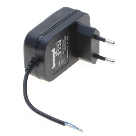 5 VDC / 2 Amp. strømforsyning, EU, 100-240 VAC, 50/60 Hz, uden terminering, 6cm kabel uden kontakt