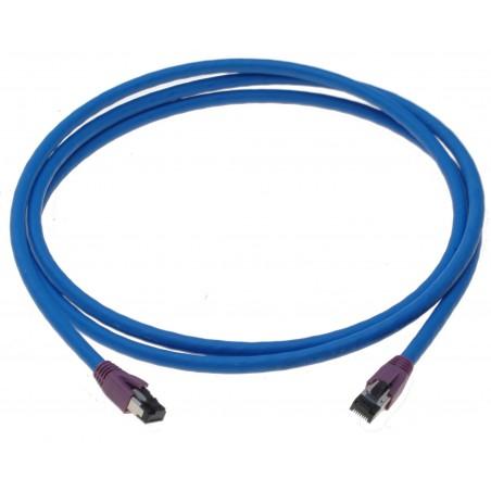 Cat. 8 netværkskabel, RJ45, S/FTP - PiMF, LSZH, 25/40G Base-T, 2000 MHz, blå, 2m