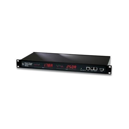 Tænd og sluk udstyr via netværk, 12 x IEC C13 udgange, op til 10A, RJ45, RS232, 2 indgange for temp/fugt sensorer