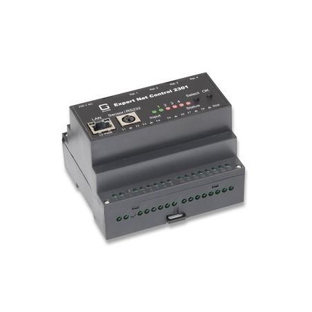 ETH, Fjernstyring over netværk, 4 x tænd/sluk udgange, 8 x passive indputs, 1 x RJ45 Ethernet
