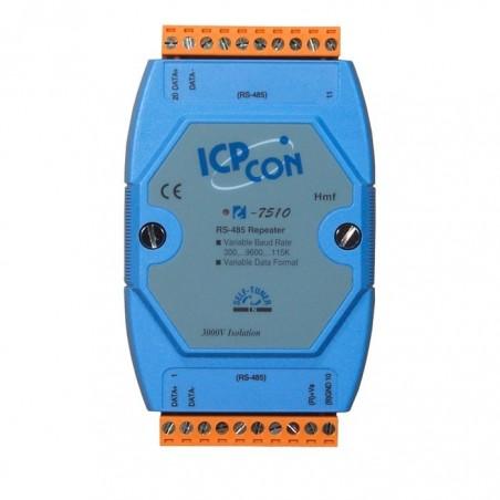 RS485 repeater, 1200m, 115.2kBit/s, 2 vejs 3000 VDC isolation, -25° - +75°C