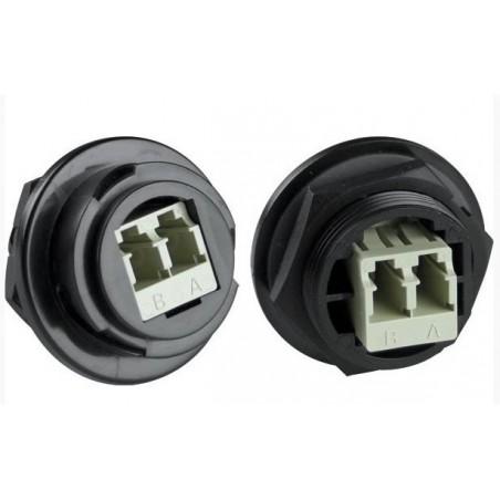 IP67 vandtæt duplex singlemode LC fiberstik. Til udendørs (industri) brug