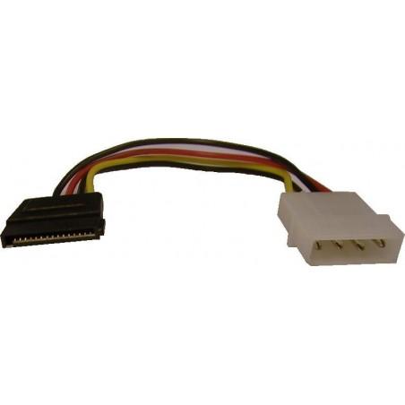 SATA stillrömadapter. Kabel: MOLEX PSU på enheter med SATA kontakt, 10 cm