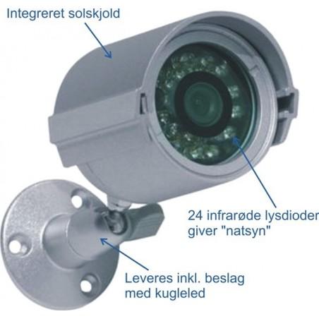 Analoch utillomhuskamera med IR-ljuskälla