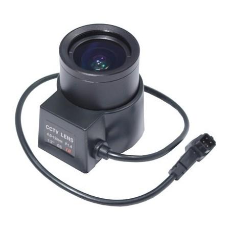 Lens, 4,0 till 12,0 mm, automatiska iris