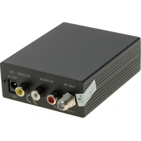 TV RF-modulator skickar videobild på antennkabeln