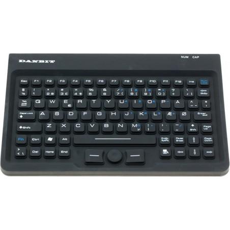 Hygienisk IP67 tät tangentbord med spårpunktill - USB - Nordic