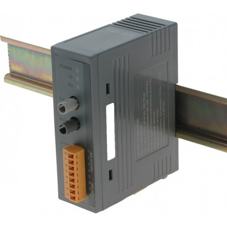 RS232-422-485 tilll fiberupptillik fiber för DIN-skena