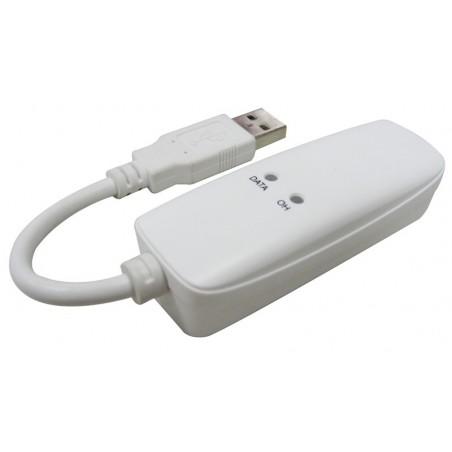 Eksternt 56K modem til USB, Til data- og faxbrug over telefonnettet