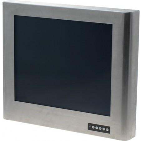 """17"""" TFT monitor i rostfritt stålkabinett, IP65, touch (USB), VGA"""