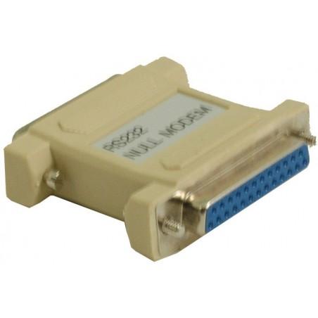 DB25 nollmodemadapter med DB25 hanea och kvinnliga kontillaktiller