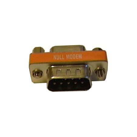 Null Modem adapter MED 1 x DB9 hona 1 x DB9 hane
