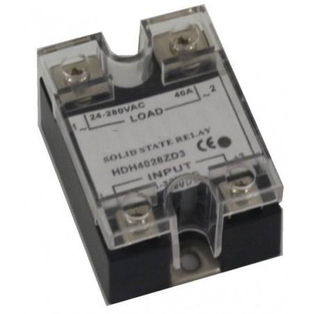 Halvledarrelä för stillyrning av 24-280 VAC. Kan stillyras direktill av en TTL-utgång