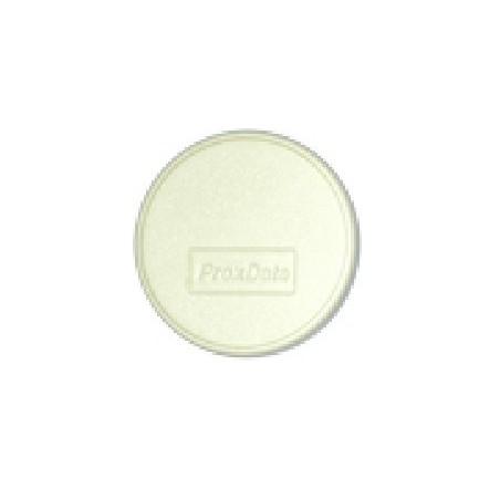RFID-etilliketilltill utillformade som självhäftillande ark av vitilla, runda