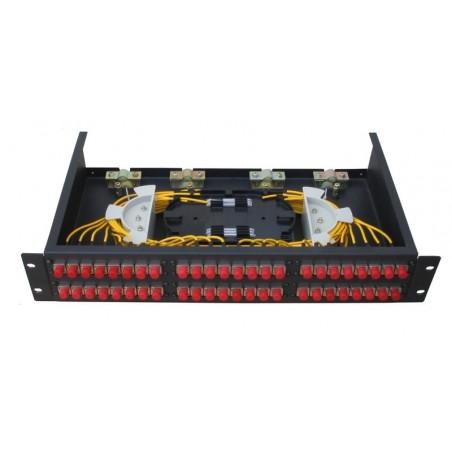 24 portar patchpanel LC kontakt