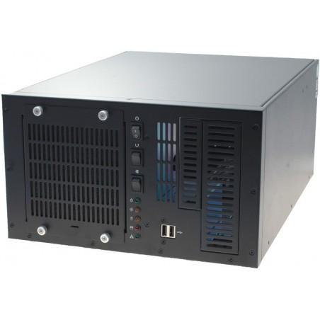 4U 6 slot dator chassi till väggmontage till PICMG back plane