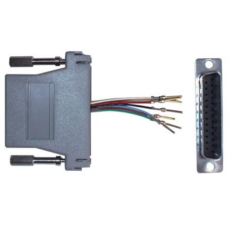 DB25 RJ45 tillpasnings kontakt med valfritilltill pin forbindelse