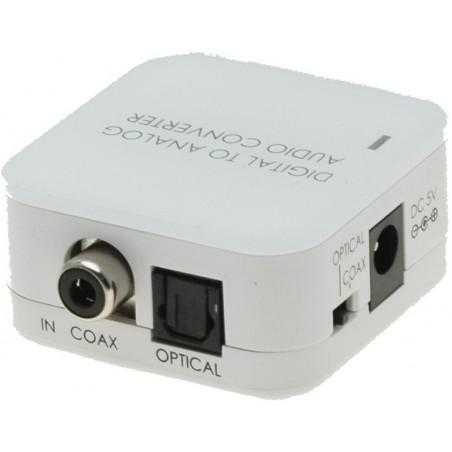 Digitillal till analog Audio converter . Omvandlare från digitillaltill ljud , till exempel. DVD 2 x analog RCA-utill