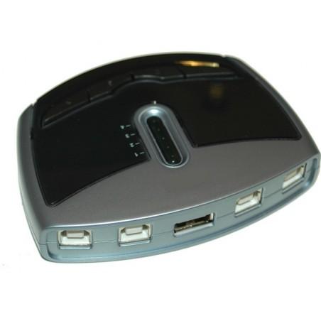 Manuell / mjukvarustyrd USB 2.0 växla från 4 datorer
