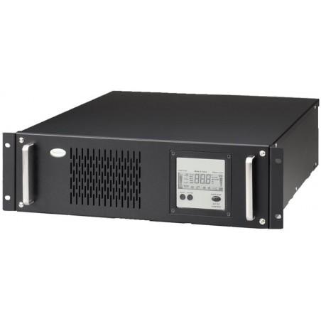 """4 kVA / 2.6 kW UPS, nödströmförsörjning till 19"""" rack, inkl. 6 x 12V/7Ah batterier, 3U"""