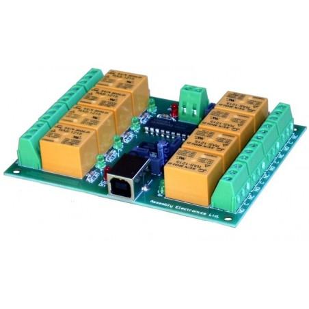8 USB relä 220v