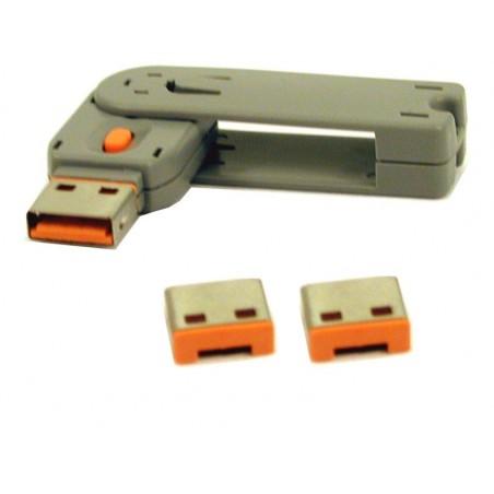 Ytilltillerligare lås för USB lås - apelsin