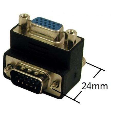 VGA 90º vinkel kontakt hanetill / kvinnligtill