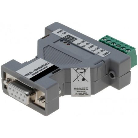 Optillisktill isolerad RS232 - RS422 - RS485 -adapter m . DB9 kontillaktillen och skruvplintar