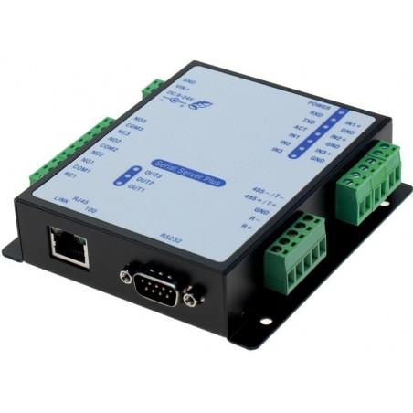 RS232 seriell enhetill server med relä