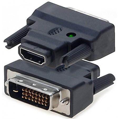 HDMI till DVI-konvertiller plugg. Anslutill DVI-enhetill till HDMI-porten