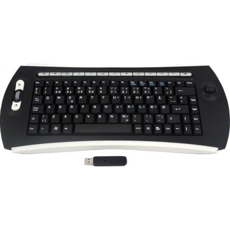 Trådlös Trackball tangentbord - USB - UK teckensät
