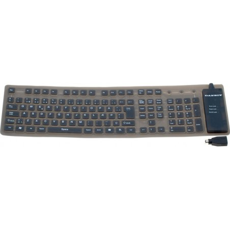 Böjbar IP65 tät tangentbord - USB och PS2