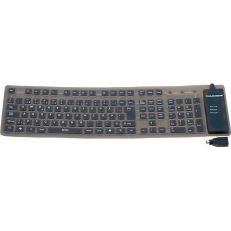 Böjbar IP65 tät tangentbord - USB och PS2 - UK teckensät