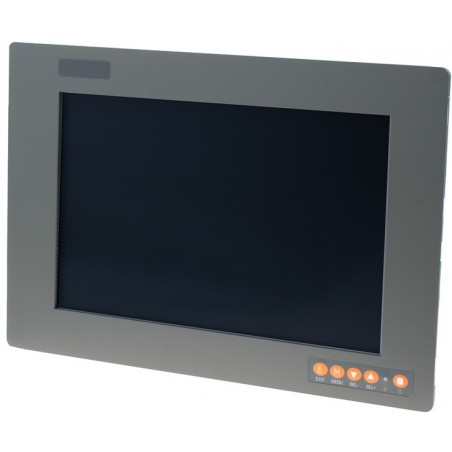 "12"" IP65 Panel mountill LCD touch monitillor, VGA, DVI, Compositille"