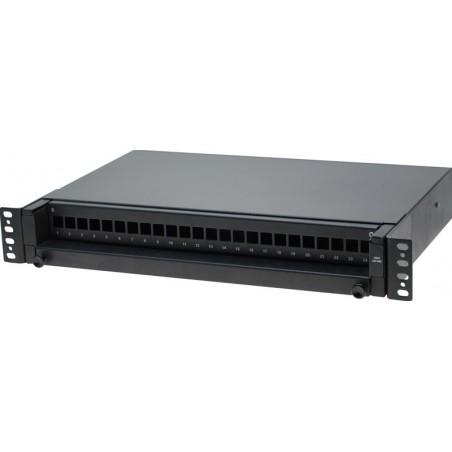 Patchpanel 24 port LC kontakt svart