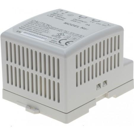 12VDC/3.5A, strömförsörjning, 85 - 264VAC, DIN-skena