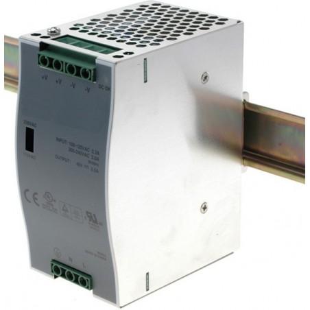 48VDC/2A, 96Watt strömförsörjning, DIN-skena
