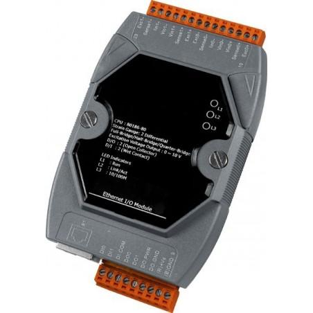 2 x analog indgange til Strain gauge, PoE, LAN