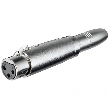 XLR adapter 3-pin XLR jack hane - 6,35 mm mono jack hane