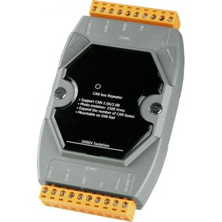 Optillo isolerad CAN bus repeatiller till DIN-skena montillage