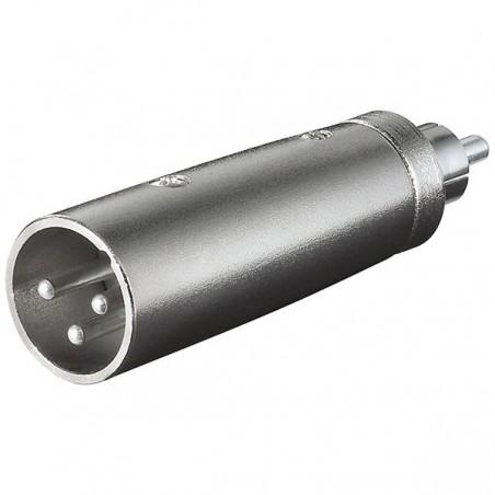 XLR adapter 3-polig XLR hane - RCA hane
