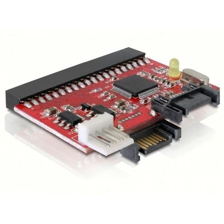 """40 Pins (3½"""") IDE til SATA och SATA til IDE konverter, Tilslut SATA HDD/DVD til ældre PCér"""