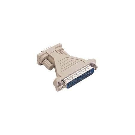 DB9 tilll DB25 omvandlare. adapt seriell port